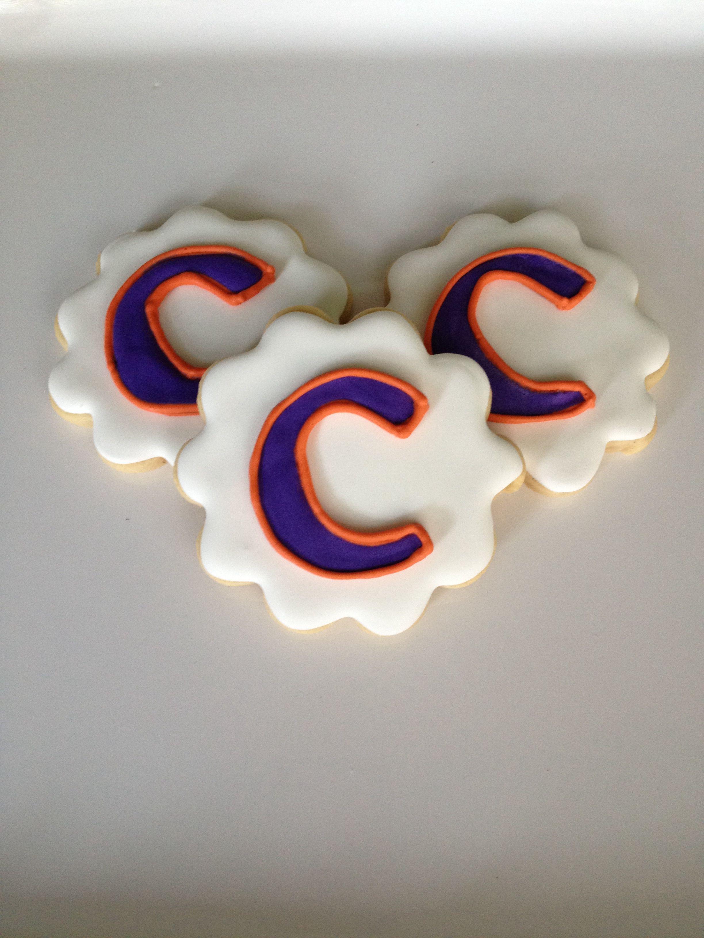 Clemson Logo Cookies Logo cookies, Tiger cookies