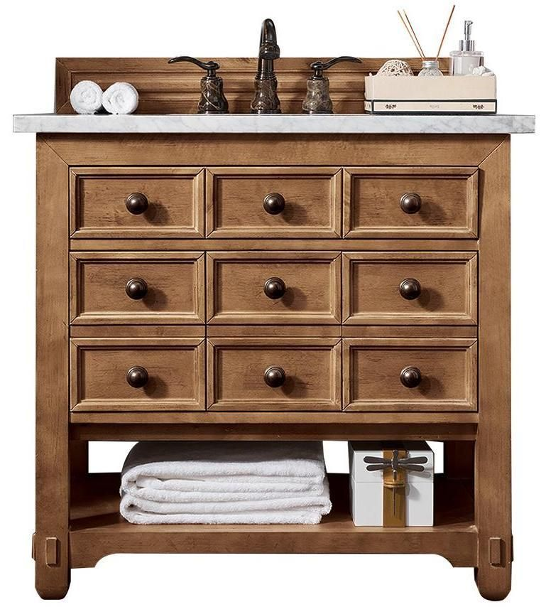 36 Malibu Honey Alder Single Sink Bathroom Vanity Bathroom Sink