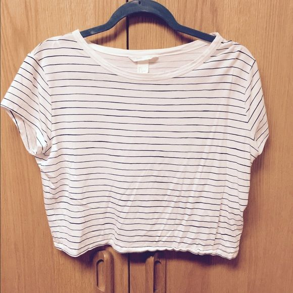 Cropped tshirt Striped shirt H&M Tops Crop Tops