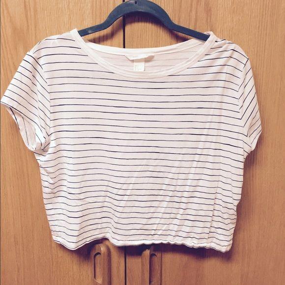 Cropped tshirt Striped shirt H&M Tops Crop Tops