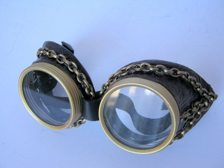 Steampunk Goggles Air Pirate Eyewear brown by OntheWingsofSteam