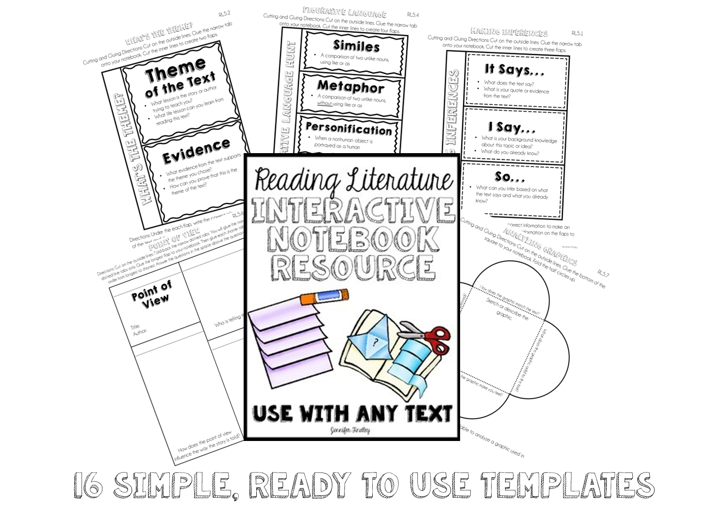 Reading Response Interactive Notebook {Common Core