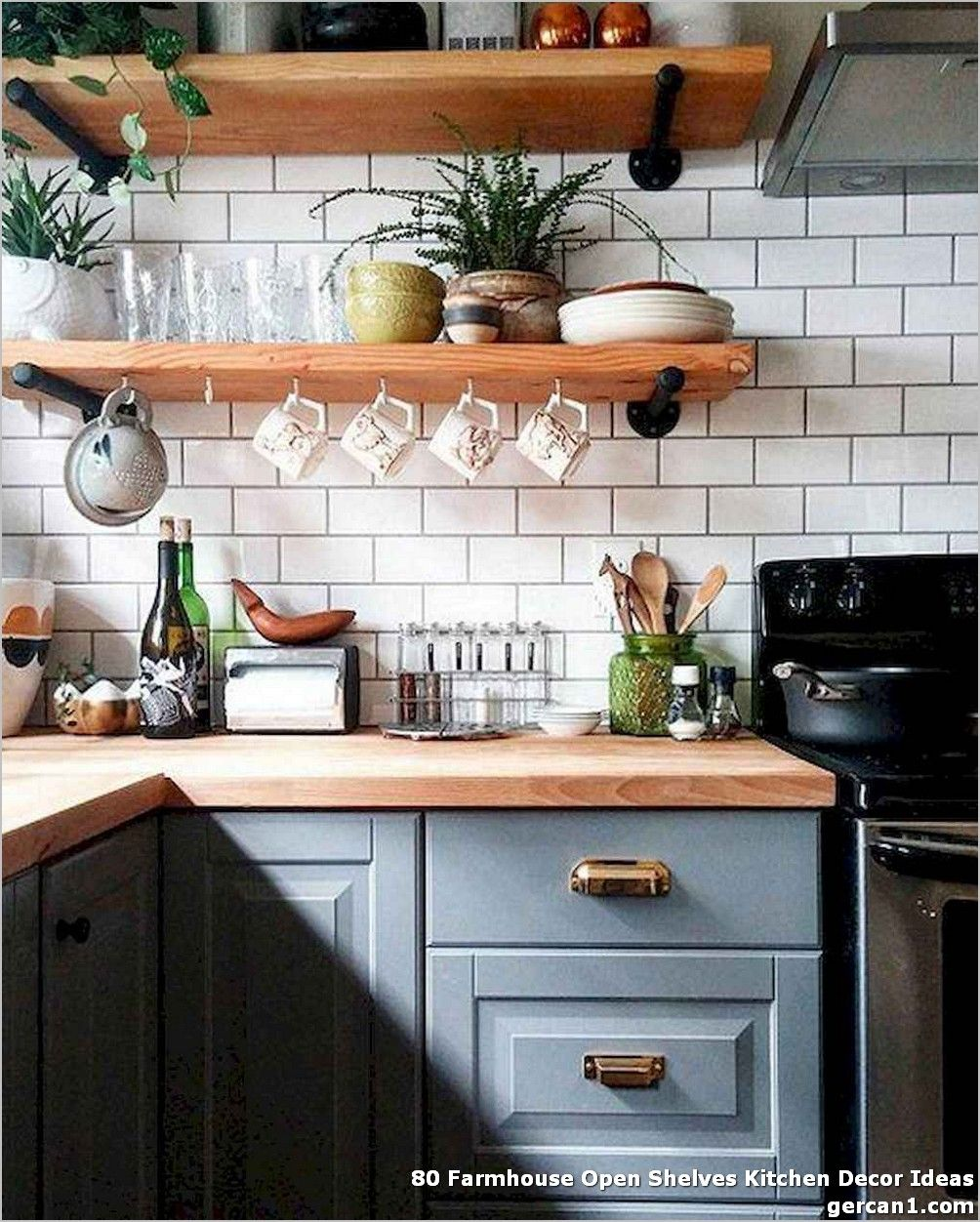 80 farmhouse open shelves kitchen decor ideas whereas it s actually not a glance that works on farmhouse kitchen open shelves id=99304