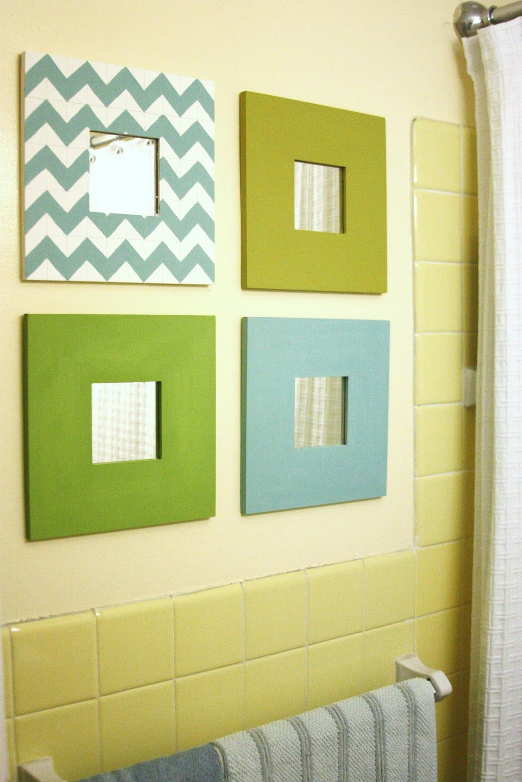 These are Malma mirrors (inexpensive!) from IKEA which this dweller ...