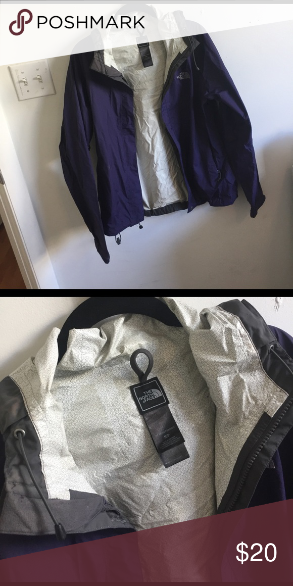 b5ce47469f The classic north face raincoat Great raincoat in a beautiful purple. In great  shape! North Face Jackets   Coats
