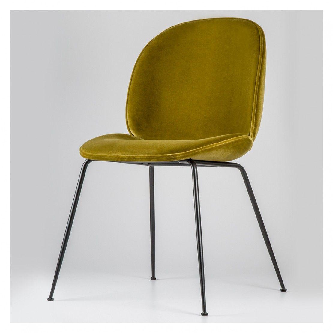 beetle chair olive green velvet with black legs home inspo rh pinterest com