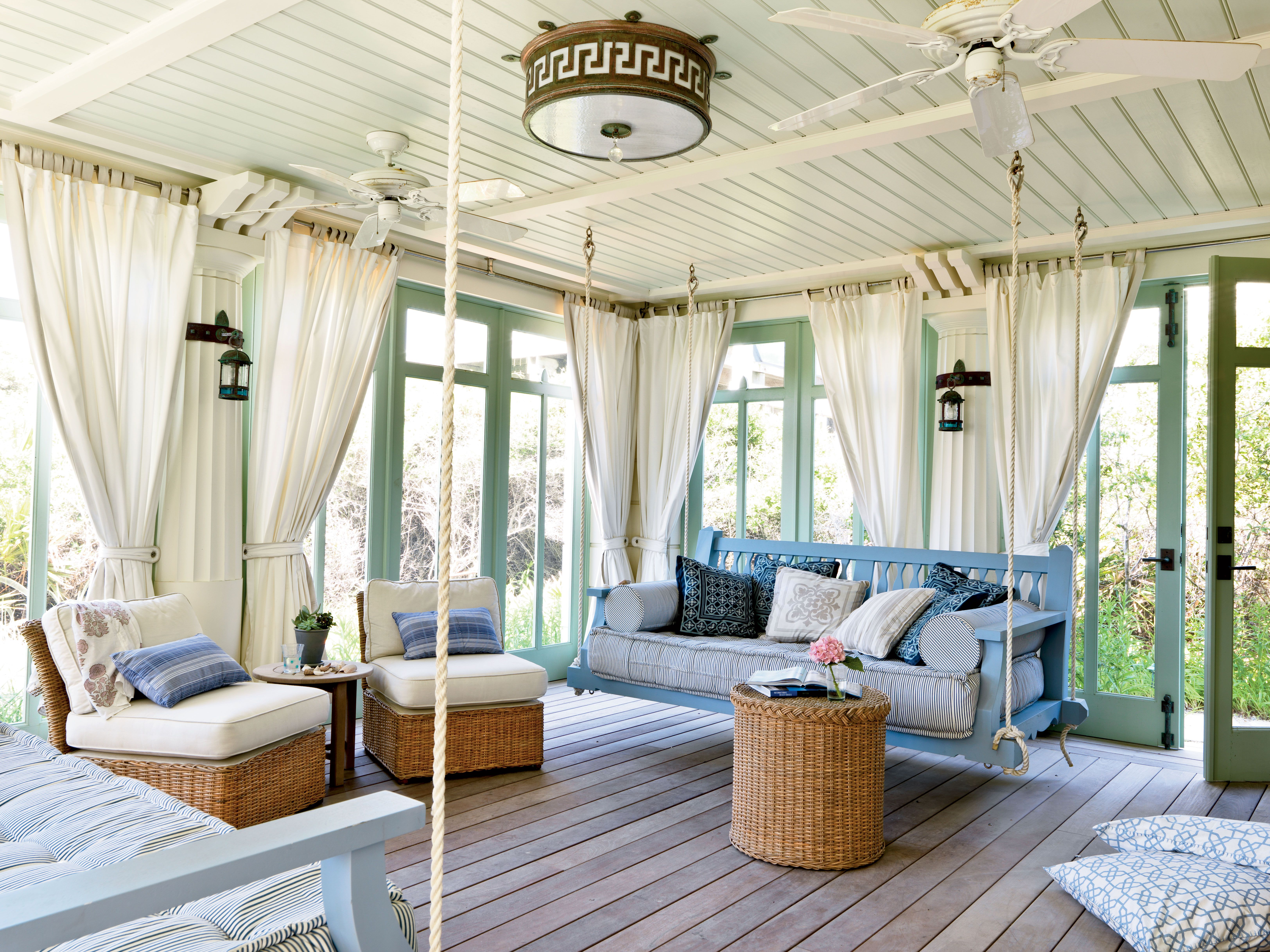the cozy porch is perfect for taking a seaside snooze nautical rope rh pinterest com au