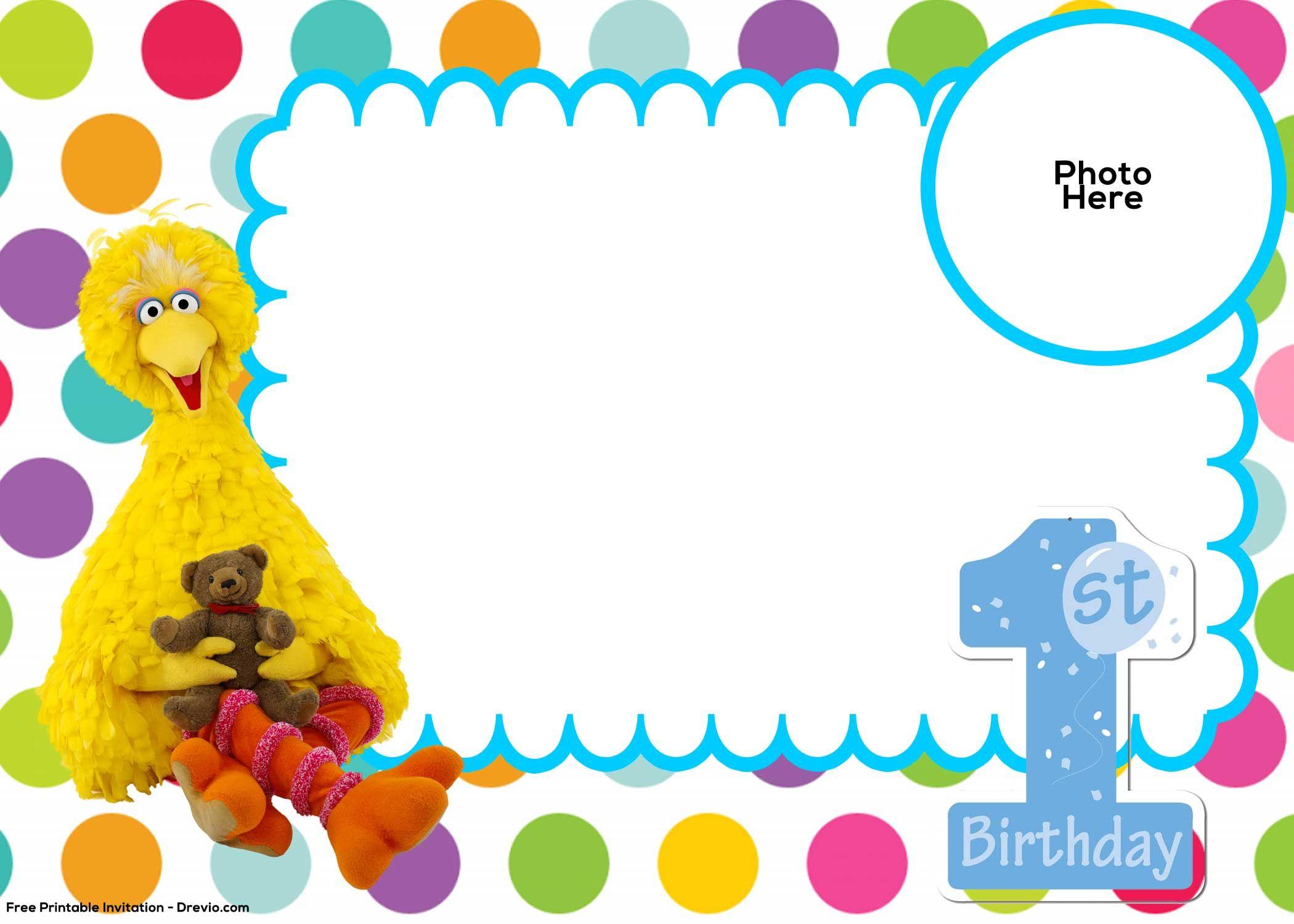photo about 1st Birthday Free Printable Invitations called no cost printable 1st birthday invites templates - Elim