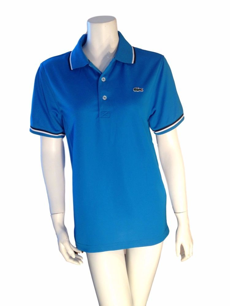 Lacoste Sport Blue Polo Shirt Polo Shirt Top -  Size: 2 (XS - Xtra Small) #Lacoste #PoloShirt