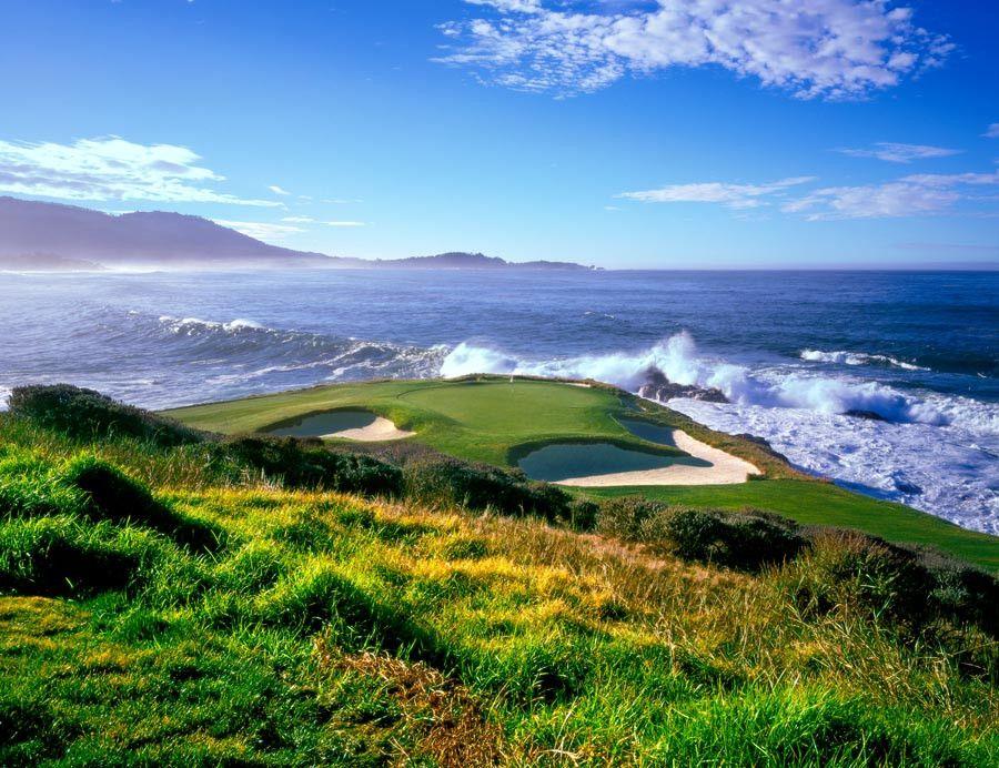 Pebble Beach Golf Links 7th Hole Wallpaper Mural Golf Courses Beach Golf Pebble Beach