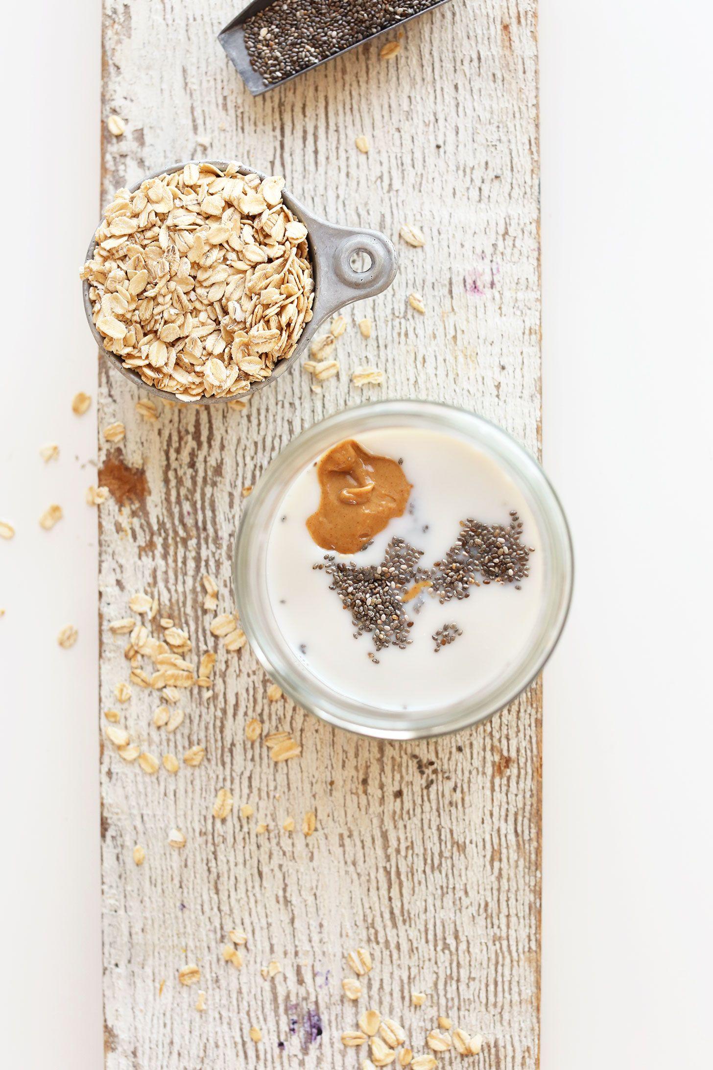 Peanut Butter Overnight Oats | Minimalist Baker