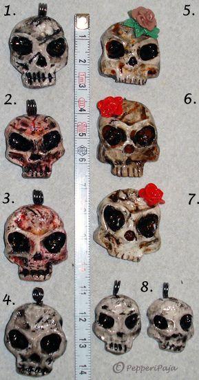 PepperiPaja: skull pendants