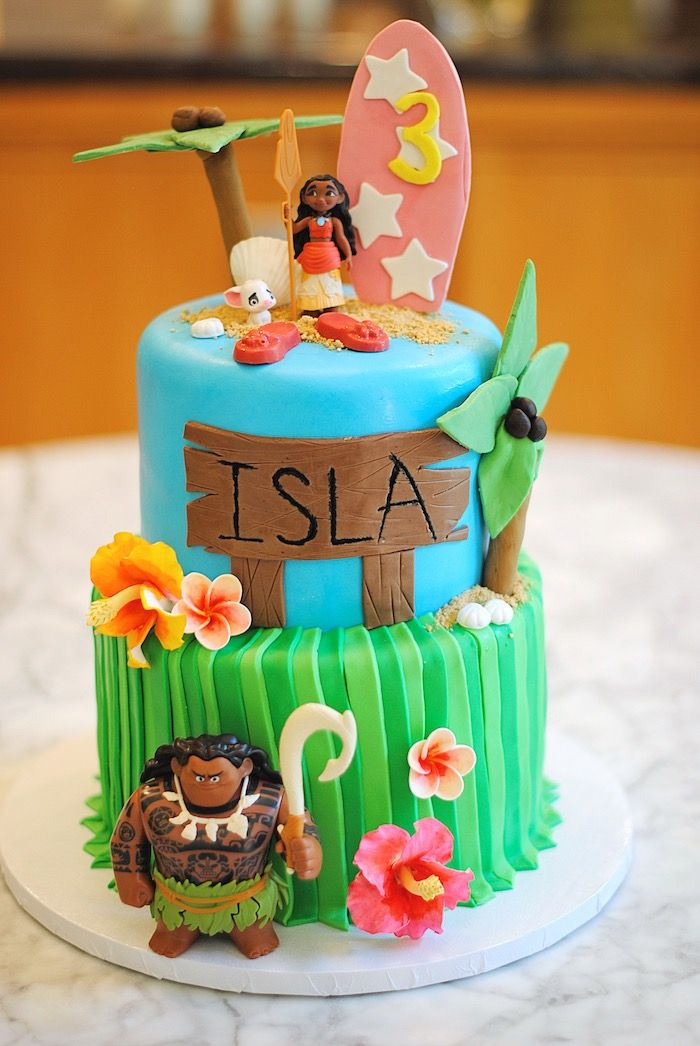 Moana Hawaiian Luau Birthday Party Moana Party Ideas