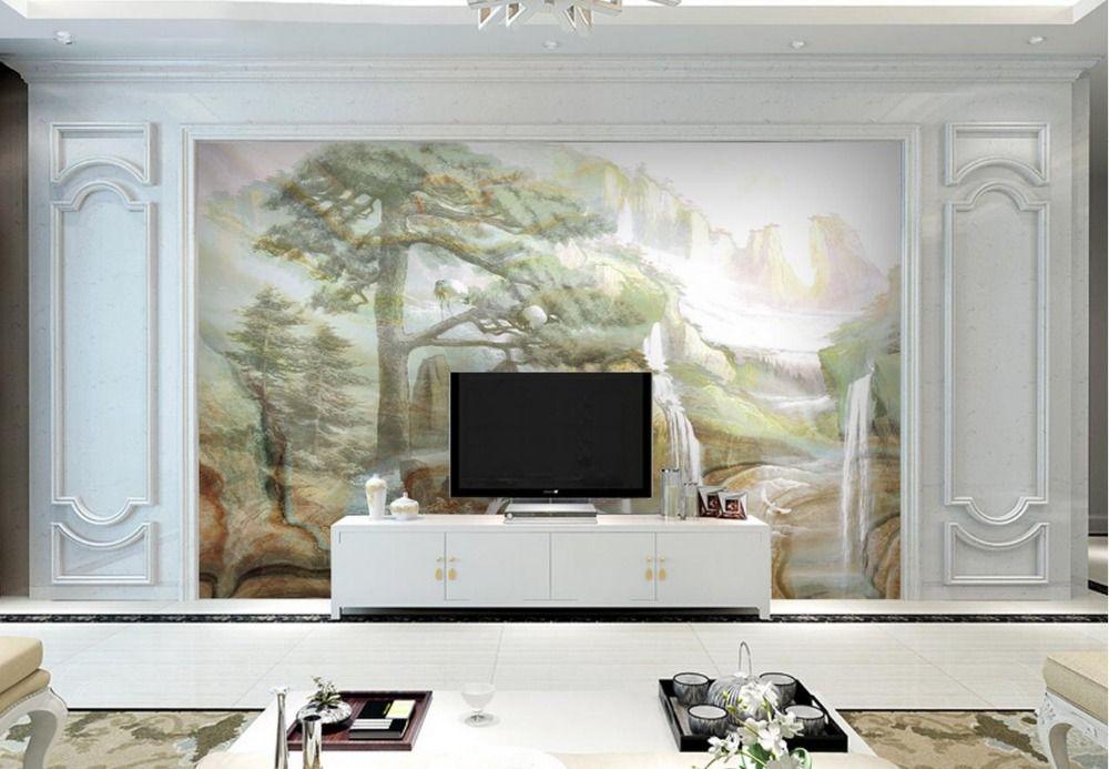 custom 3d mural wallpaper for living room 3d stereoscopic european rh pinterest com