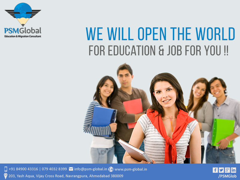 We Will Open The world For Education &  Job For You..!!  #PSMGlobal #StudyInAustralia #StudyInNZ #StudyInCanada #IELTS #TOFLE #PTE  #EducationMigrationConsultant #IELTSCoaching #TOEFLCoaching #NewZealandStudy  #PRVisa