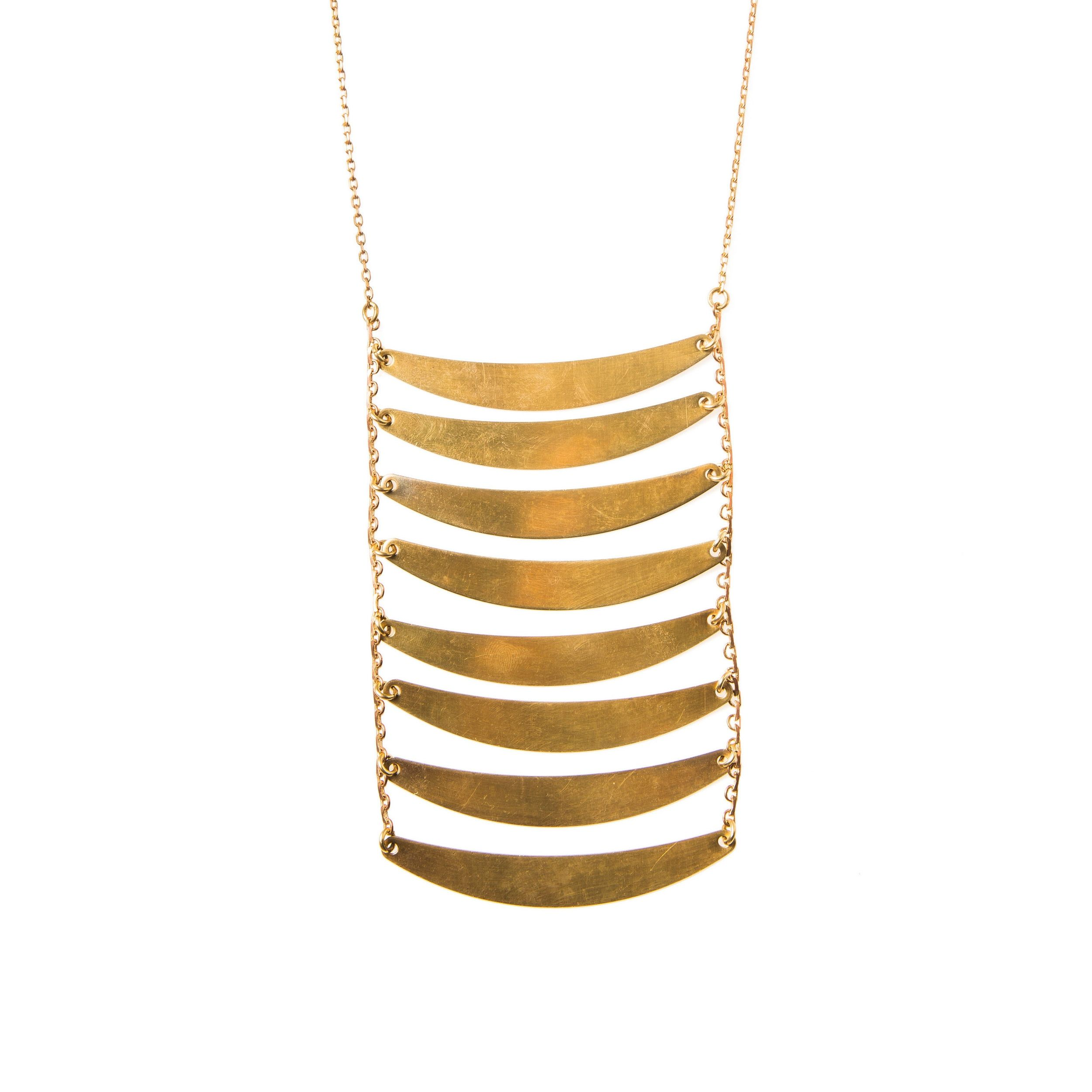 """Handmade oxidized brass Ladder necklace, available in three sizes: 8 steps on 20"""" chain with a 3""""extender ..."""