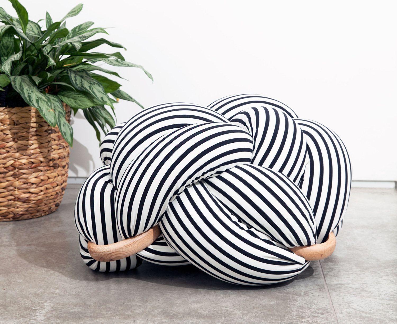 Weiche Knoten Kissen Sofa Kissen Ball Modern Zuhause Dekoration Ball Weiß