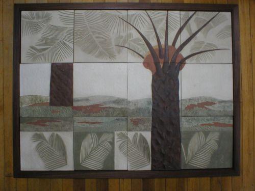 Patricia Chica, mural en cerámica CENIPALMA