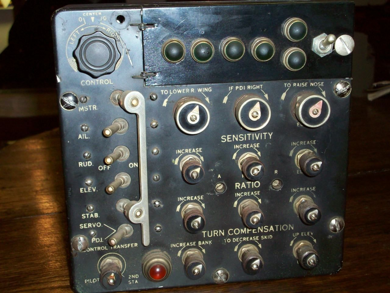 Auto Pilot Control Panel B 29 Bomber US Army Air Force B