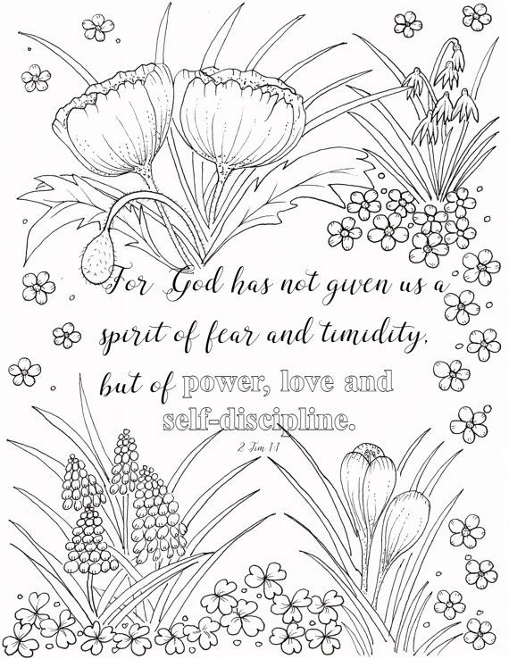 Here Is A Coloring Page For 2 Timothy 1 7 I Strongly Believe That