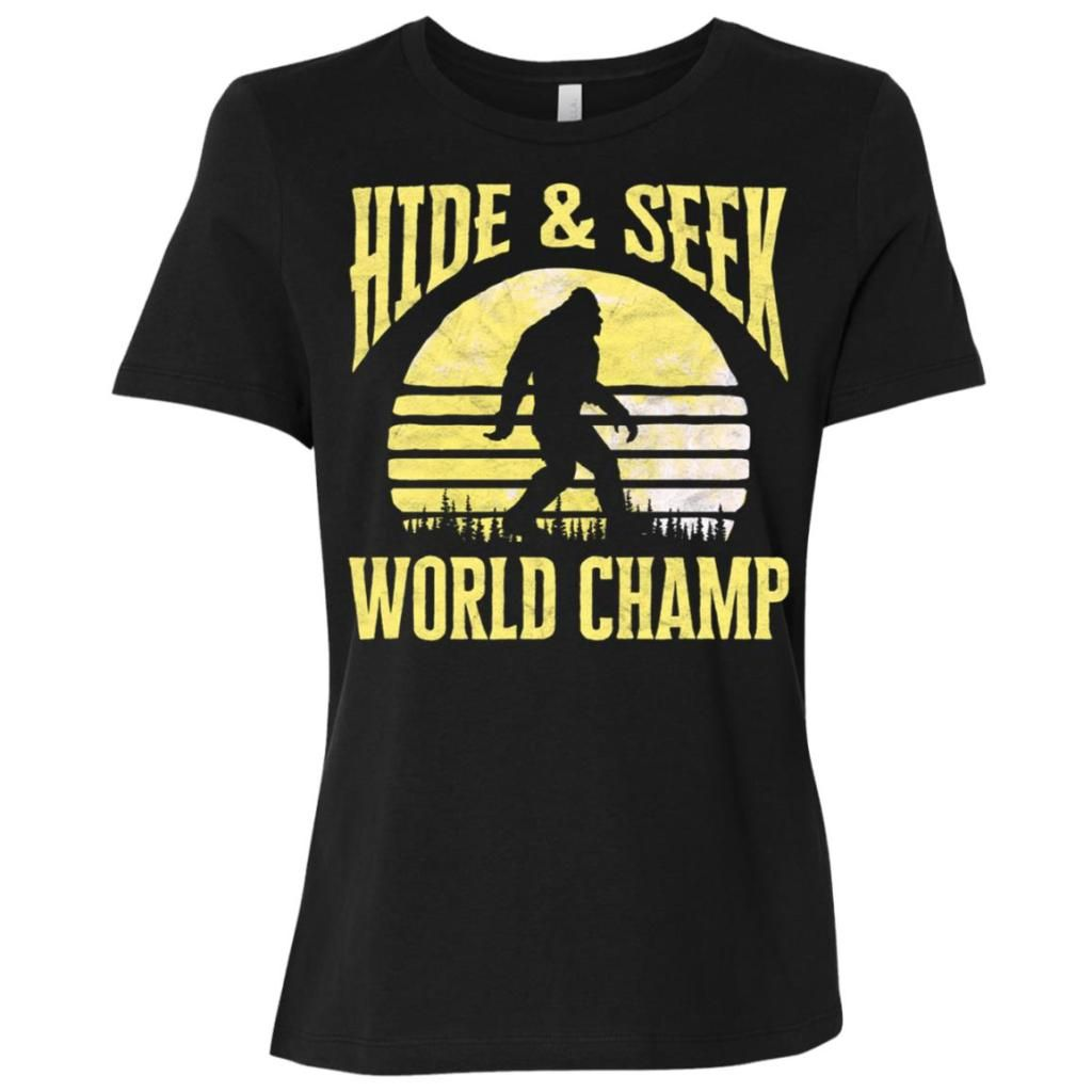 60157791 Bigfoot Hide & Seek World Champ Moon Women Short Sleeve T-Shirt - BigShopper