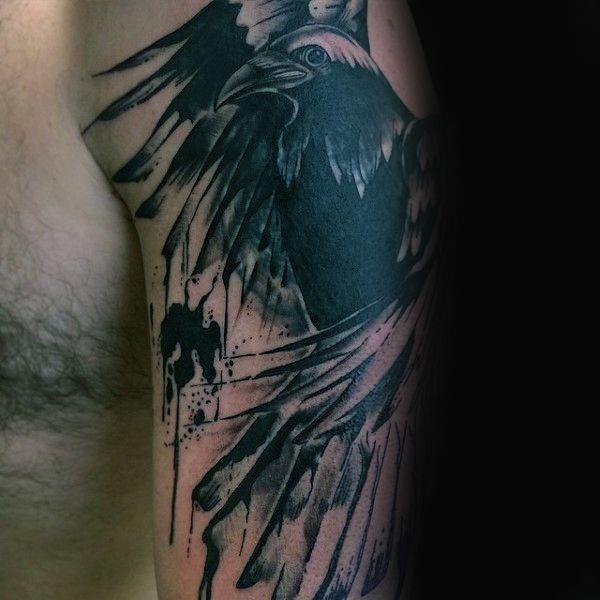 Crow Tattoo Design Ideas Black Bird Ink Ideas Inked Crow