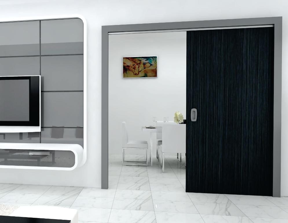 Classic 100 F Sly Flush Straight Flush Sliding System For Wooden Doors 100 Kg Per Panel Slido By Hafel Sliding Door Design Wooden Doors Fitted Furniture