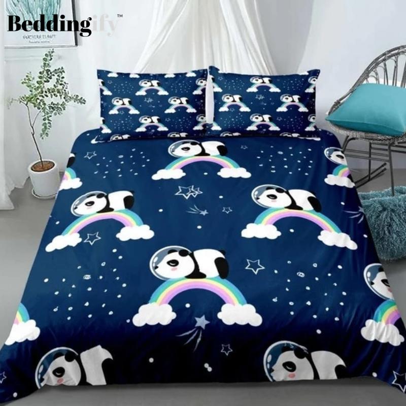 Rainbow Panda Bedding Set Bedding Set Kids Bedding Sets Duvet Cover Sets