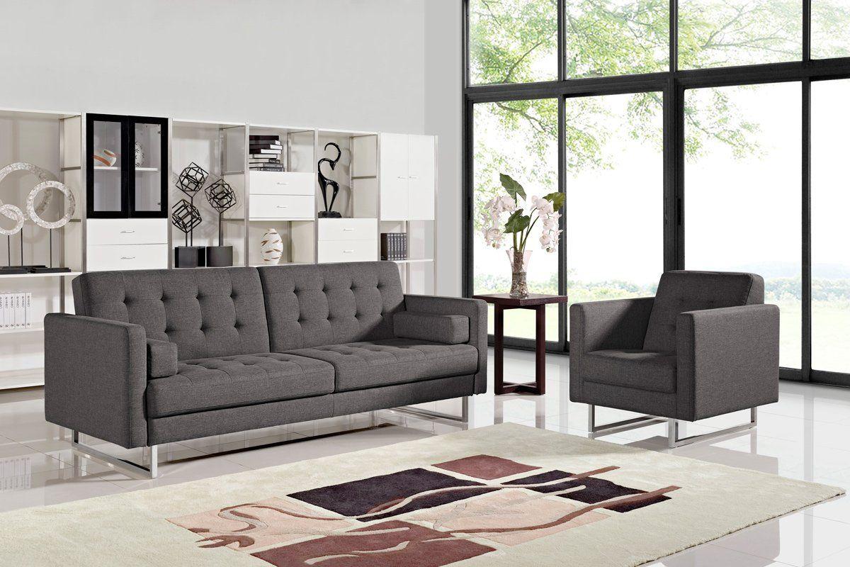 Bauxite Grey Fabric Sofa Bed Bauxite Grey