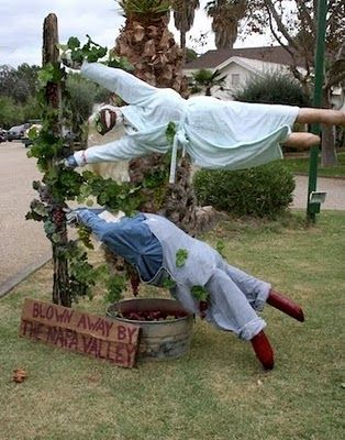 Scarecrows, from the First Annual Calistoga Scarecrow Contest - halloween scarecrow ideas
