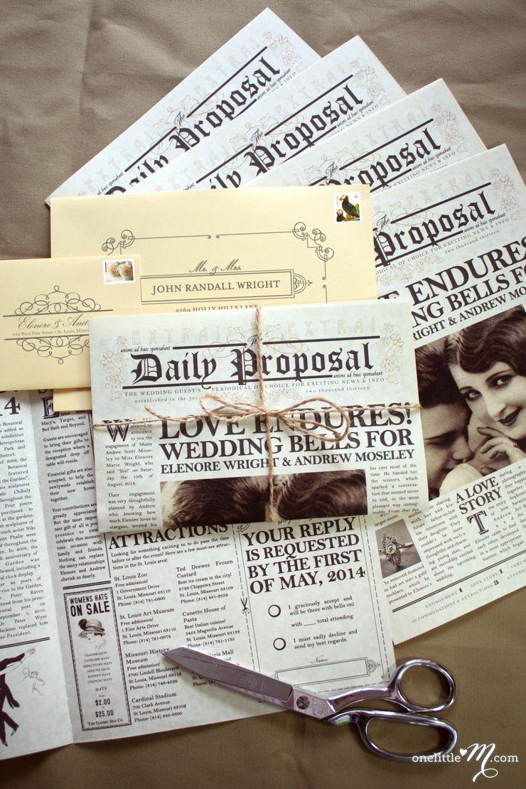 New daily proposal wedding invitation proposals wedding and wedding new daily proposal wedding invitation paper truly stopboris Choice Image