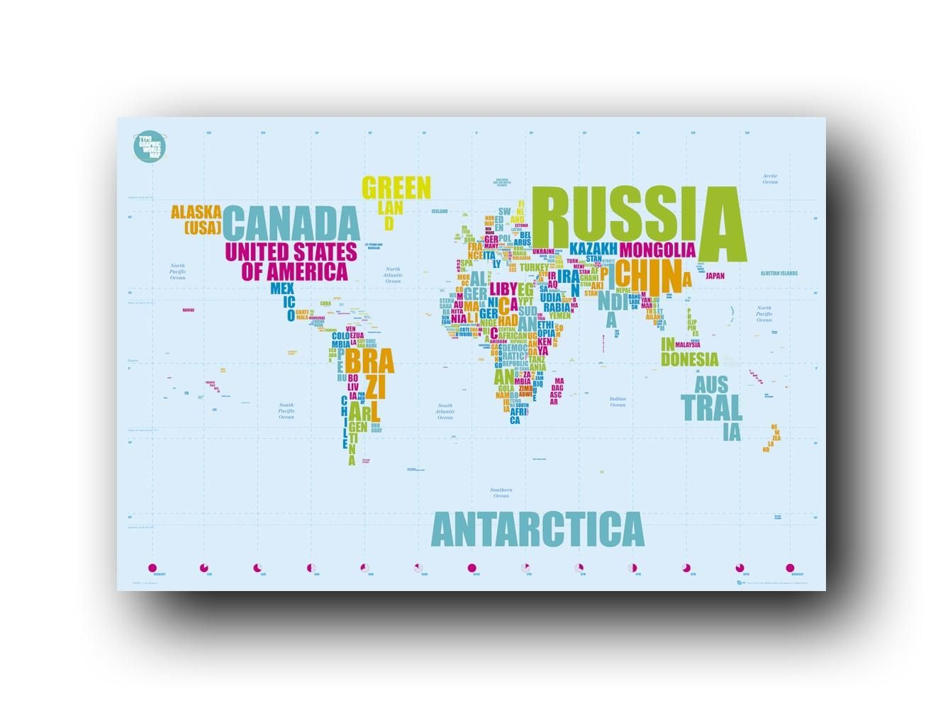 world map in words postergreat for playroom
