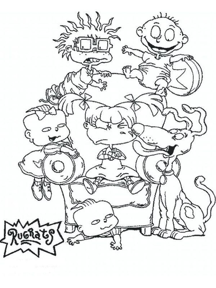 Chuckie Rugrats Coloring Pages The Following Is Our Collection Of Nick Jr Rugrat Colorin Cartoon Coloring Pages Disney Coloring Pages Coloring Pages For Kids