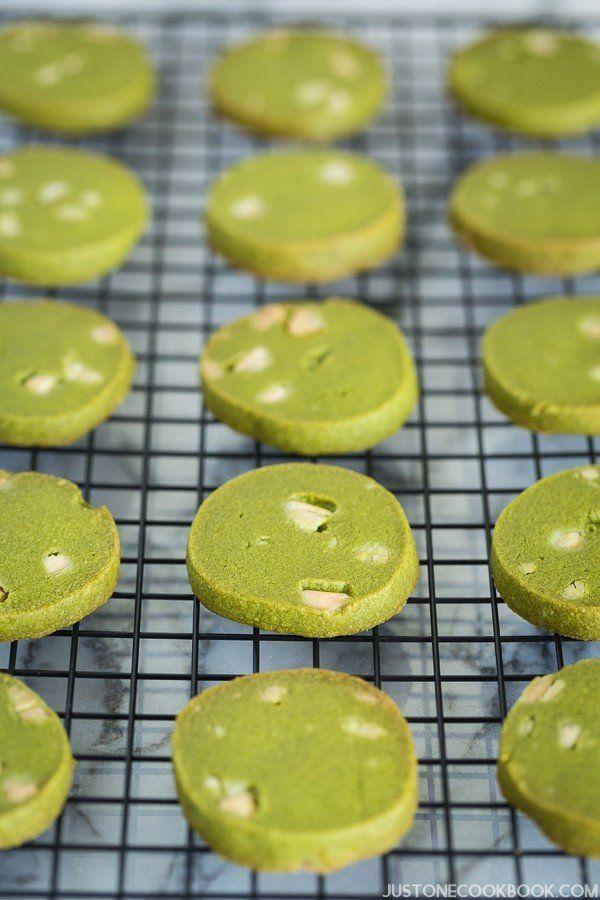 Photo of Green Tea Cookies • Just One Cookbook