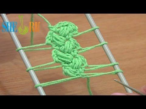 Лента вязаная на вилке Урок 10 Вязание крючком на вилке - YouTube