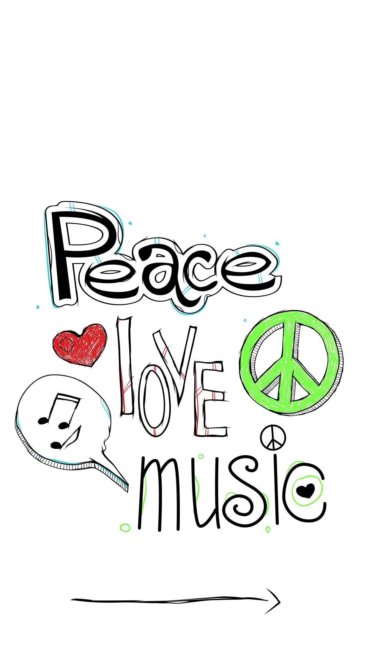 Peace Love Music Peace And Love Wallpaper Iphone Wallpaper