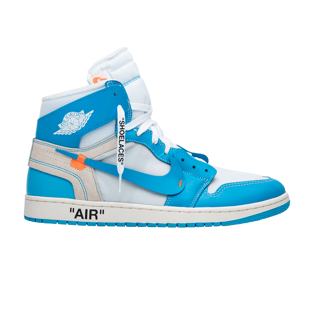 42c5990cde7 Shop OFF-WHITE x Air Jordan 1 Retro High OG 'UNC' - Air Jordan on GOAT. We  guarantee authenticity on every sneaker purchase or your money back.