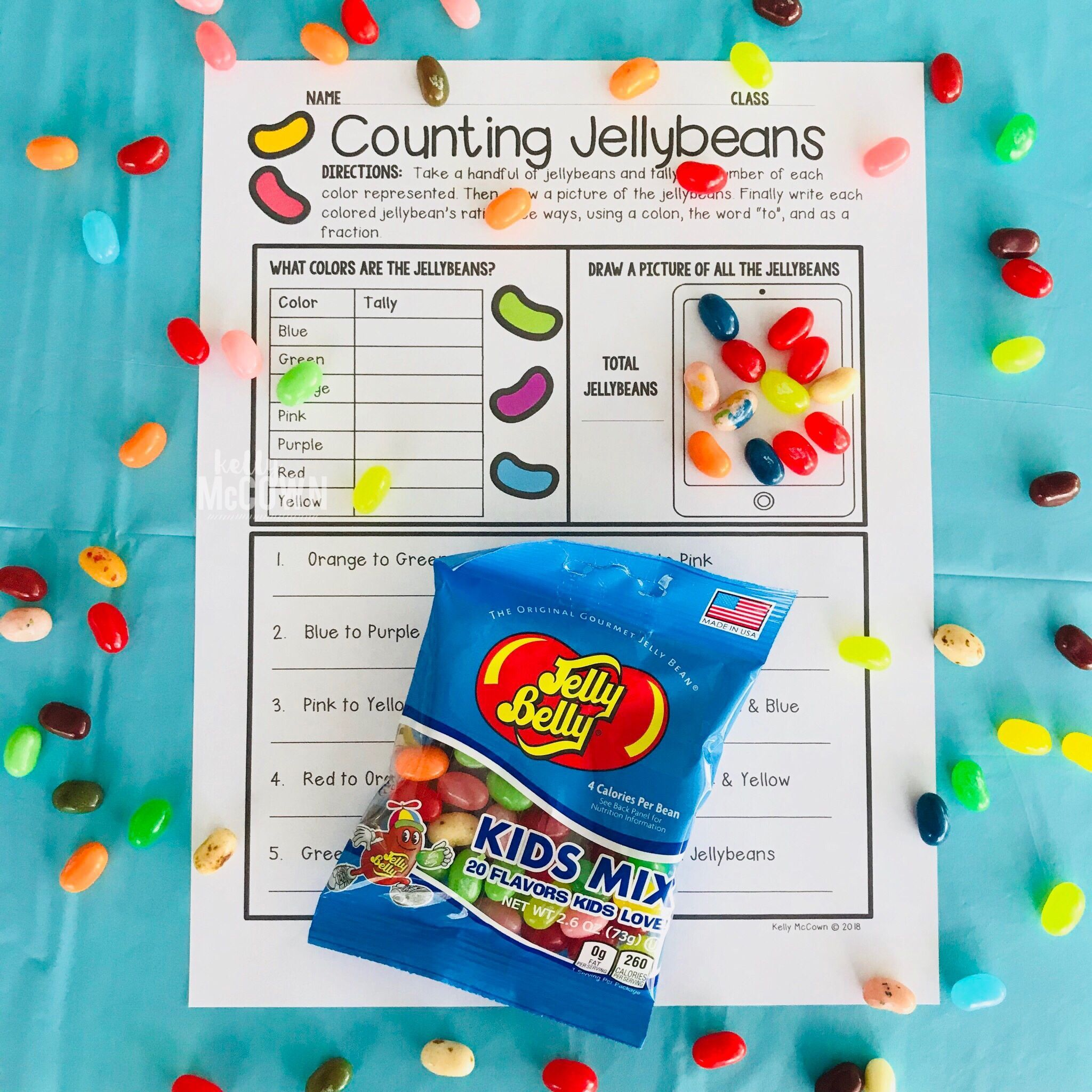 Spring Ratios And Rates Activity With Jellybeans For