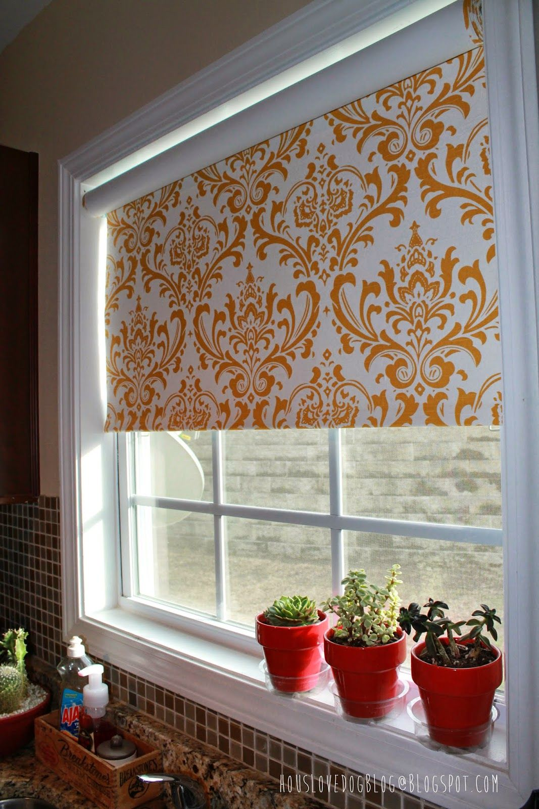IKEA Hack: Fabric Covered Tupplur Blinds HousLoveDogBlog@blogspot ...
