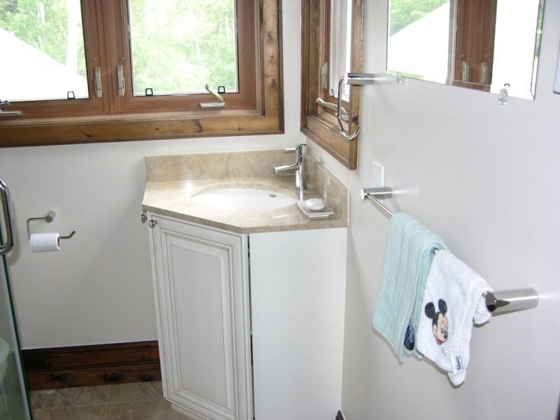 Print of Stylish and Space-Efficient Bathroom Vanity Cabinet Ideas