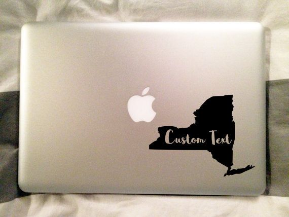 New York State Decal Custom Vinyl Sticker Macbook Sticker State - Custom vinyl decals utah