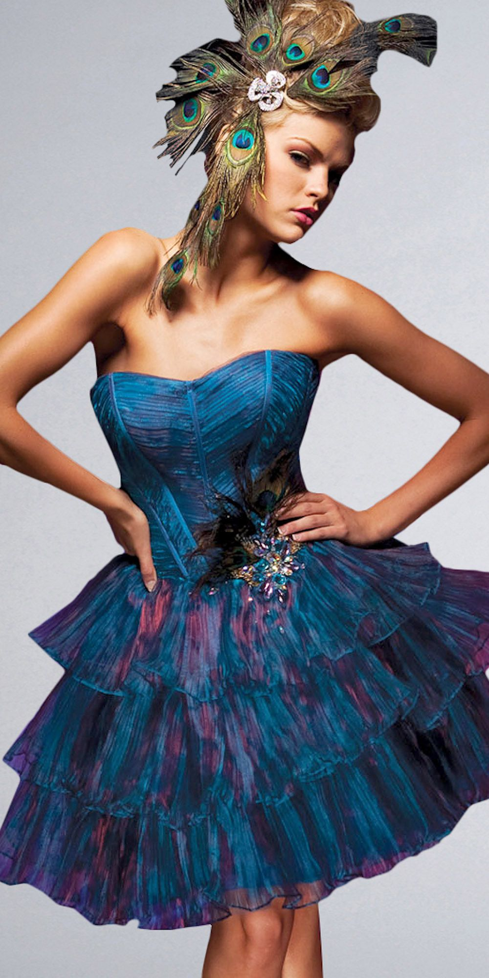 Not this short blue prom dresses by tony bowls look at that head