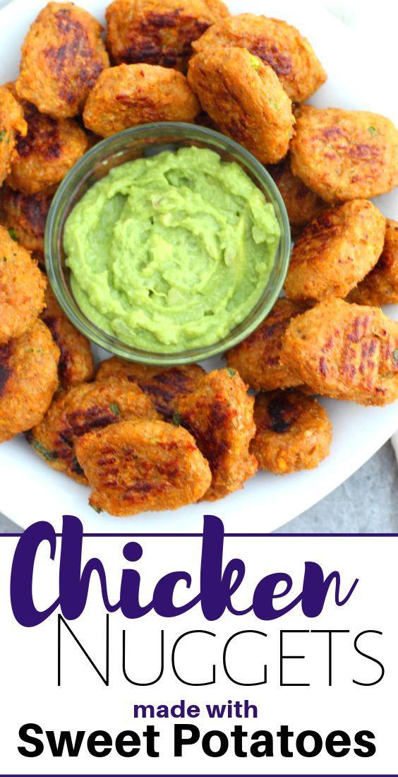 Sweet Potato Chicken Nuggets   Recipe   Homemade chicken ...