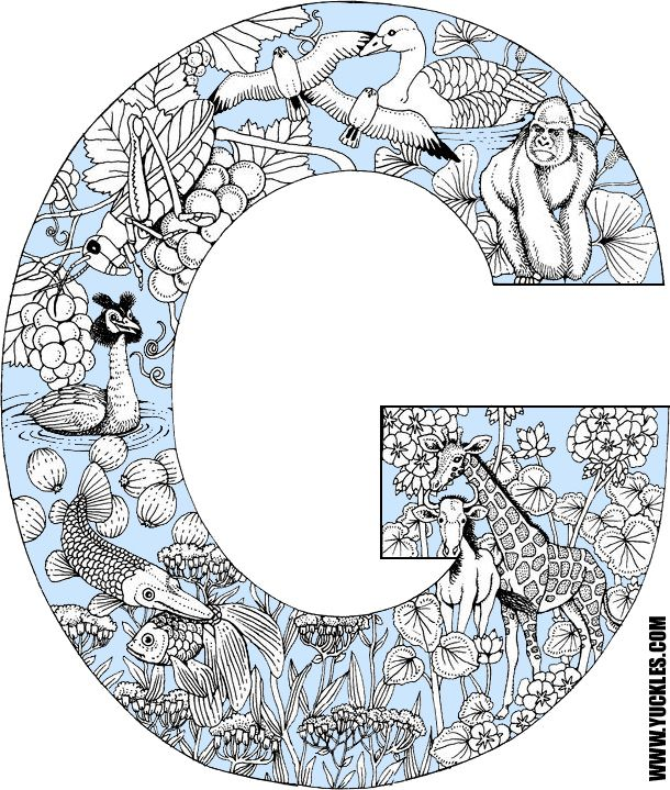Alphabet Coloring Page G