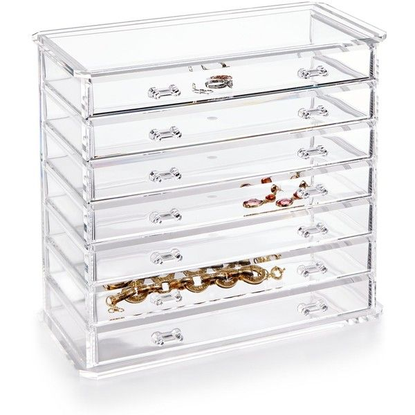 Honey Can Do Acrylic Emily Jewelry Chest ($132) Liked On