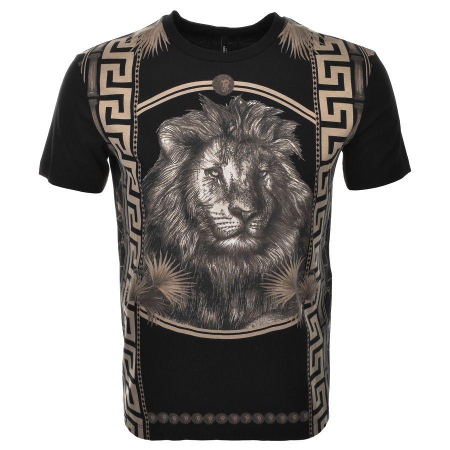 2dd5df0ec95d Versus Versace Lion Logo T Shirt Black - that should be mine ...