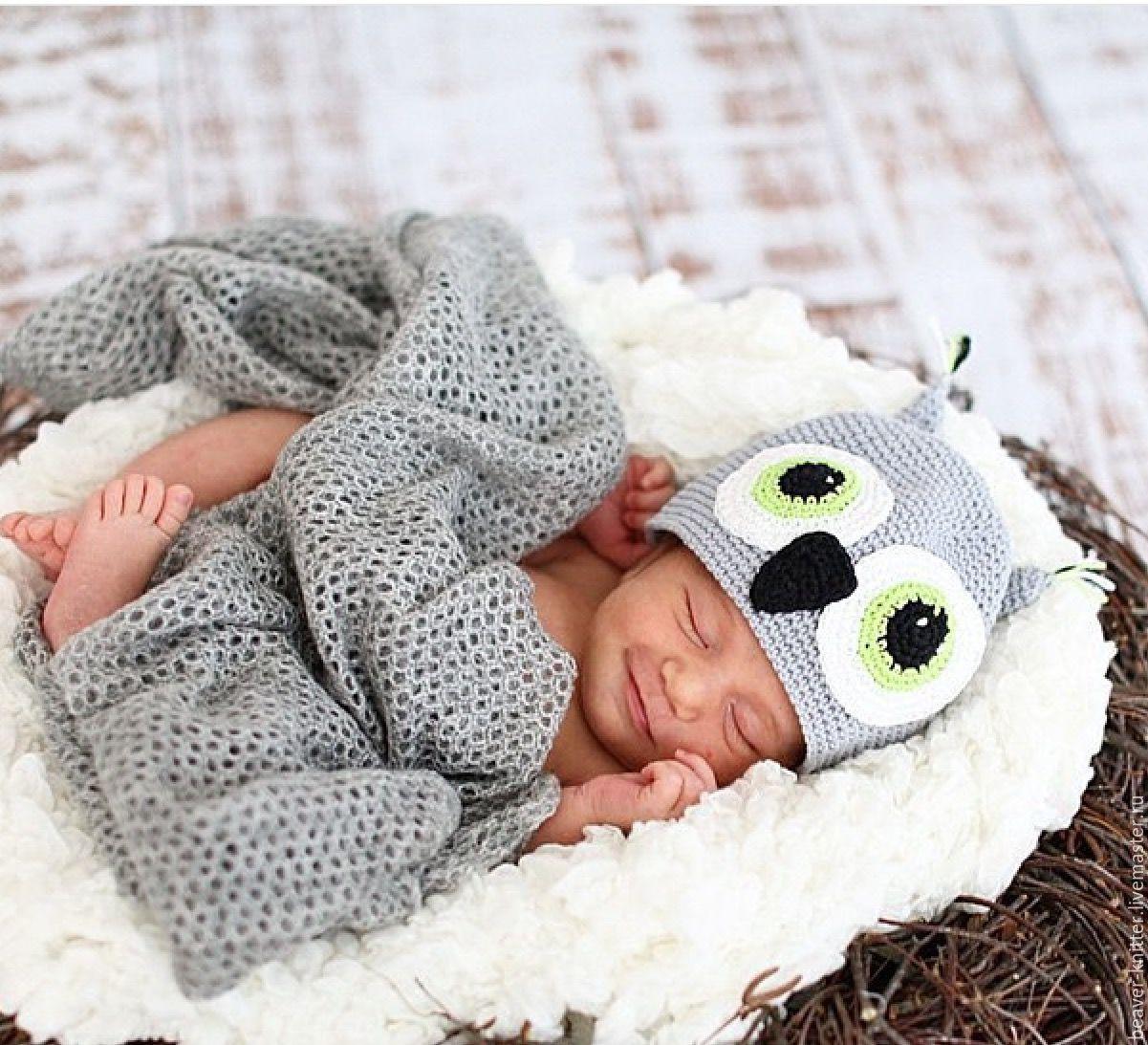 Костюм «Мышка Мини» крючком для фото сессии новорожденных. Мастер - класс 5