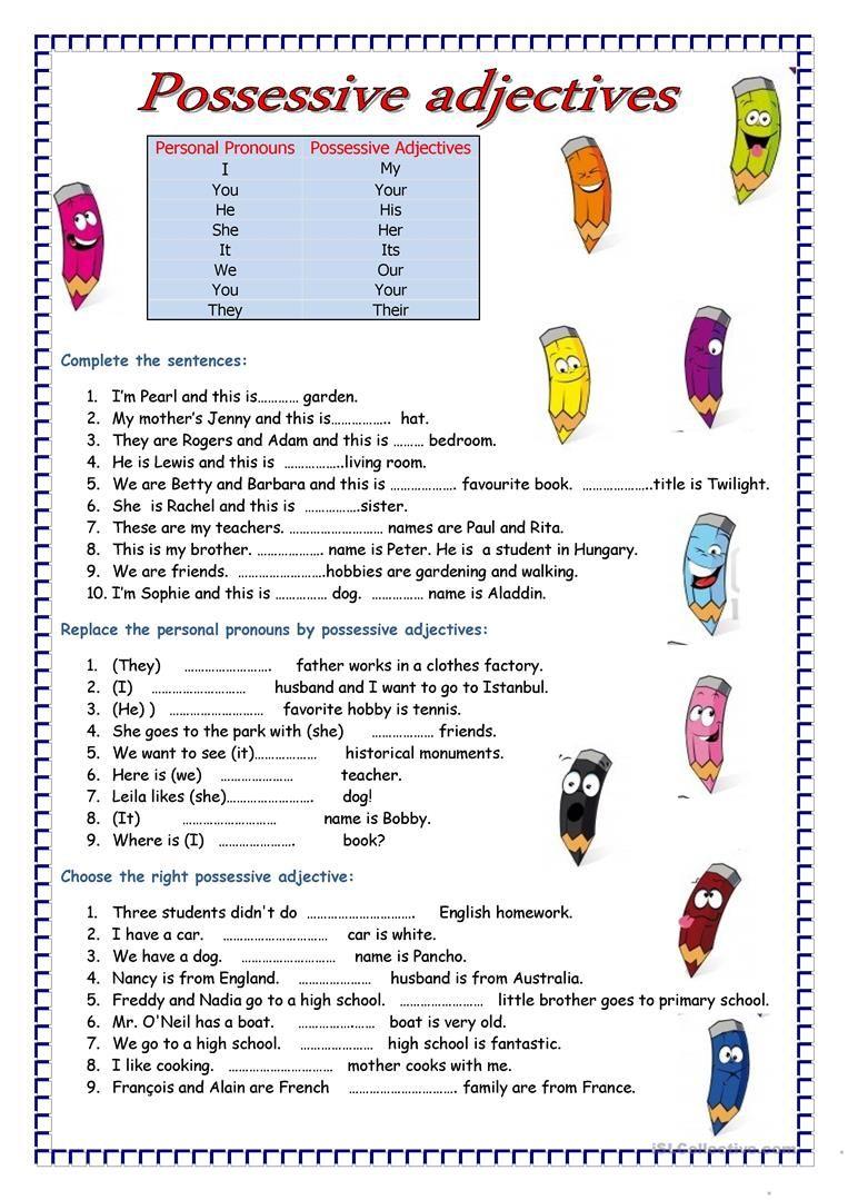 Adjectives worksheet Free ESL printable worksheets made
