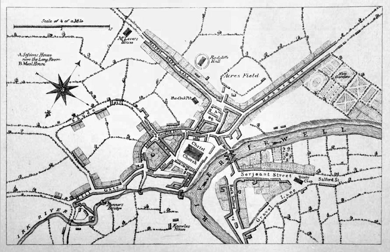 A Map Of Manchester Circa