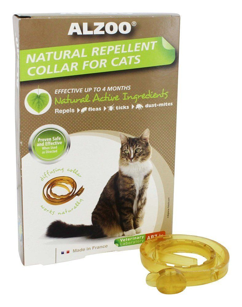 Alzoo Natural Repellent Flea And Tick Collar For Cats 1 Oz Box 1